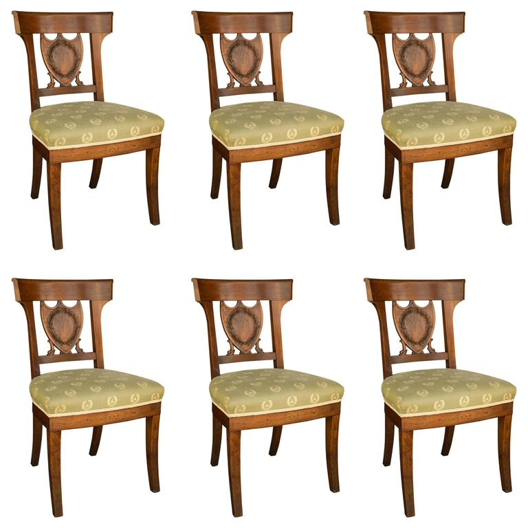 Peachy Set Of Six Period French Directoire Dining Chairs Pabps2019 Chair Design Images Pabps2019Com