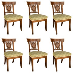 Set of Six Period French Directoire Dining Chairs