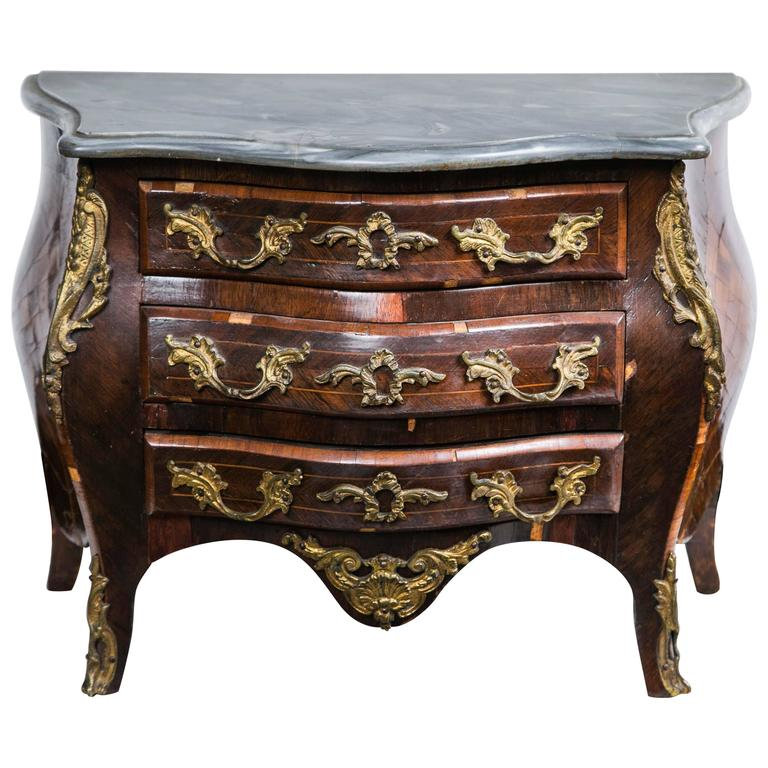 Miniature Louis XV Style Marble Commode