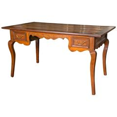 French Fruitwood Writing Table