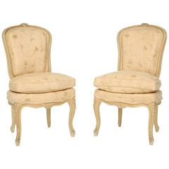 Pair of French Louis XV Poudresse Chairs