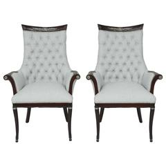 Pair of Grosfeld House Hollywood Regency Bergeres