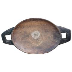 Traditional Primitive African Tribal Zulu Meat Tray From South Africa