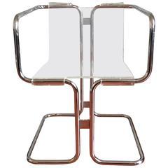 Fabio Lenci Lucite Chairs, Italy, circa 1970