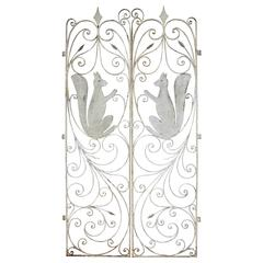 Hand-Wrought Squirrel Gates