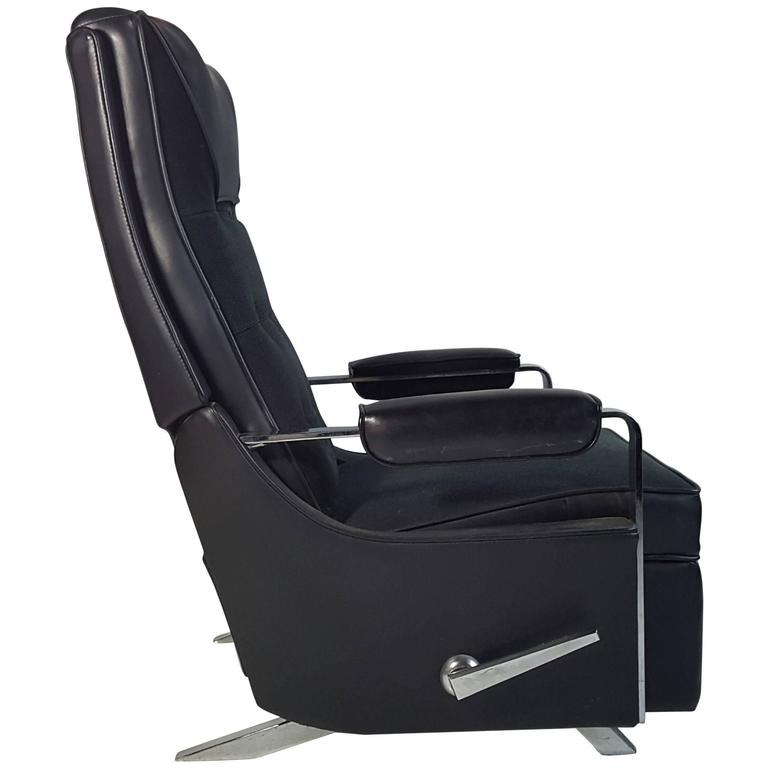 Classic Modernist u0027Lazy Boy  Recliner Stunning Black and ...  sc 1 st  1stDibs & Classic Modernist u0027Lazy Boy