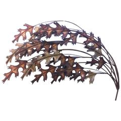 Curtis Jere Copper and Brass Leaf Sculpture