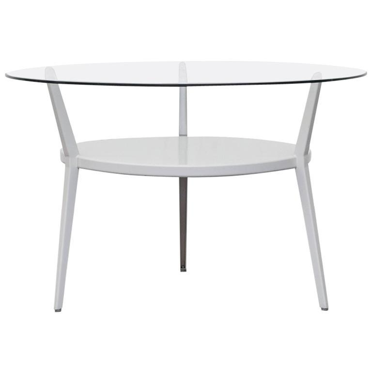 1964 Rare Friso Kramer Coffee Table For Ahrend De Cirkel: Friso Kramer Rotunda Round Side Or Coffee Table For Sale