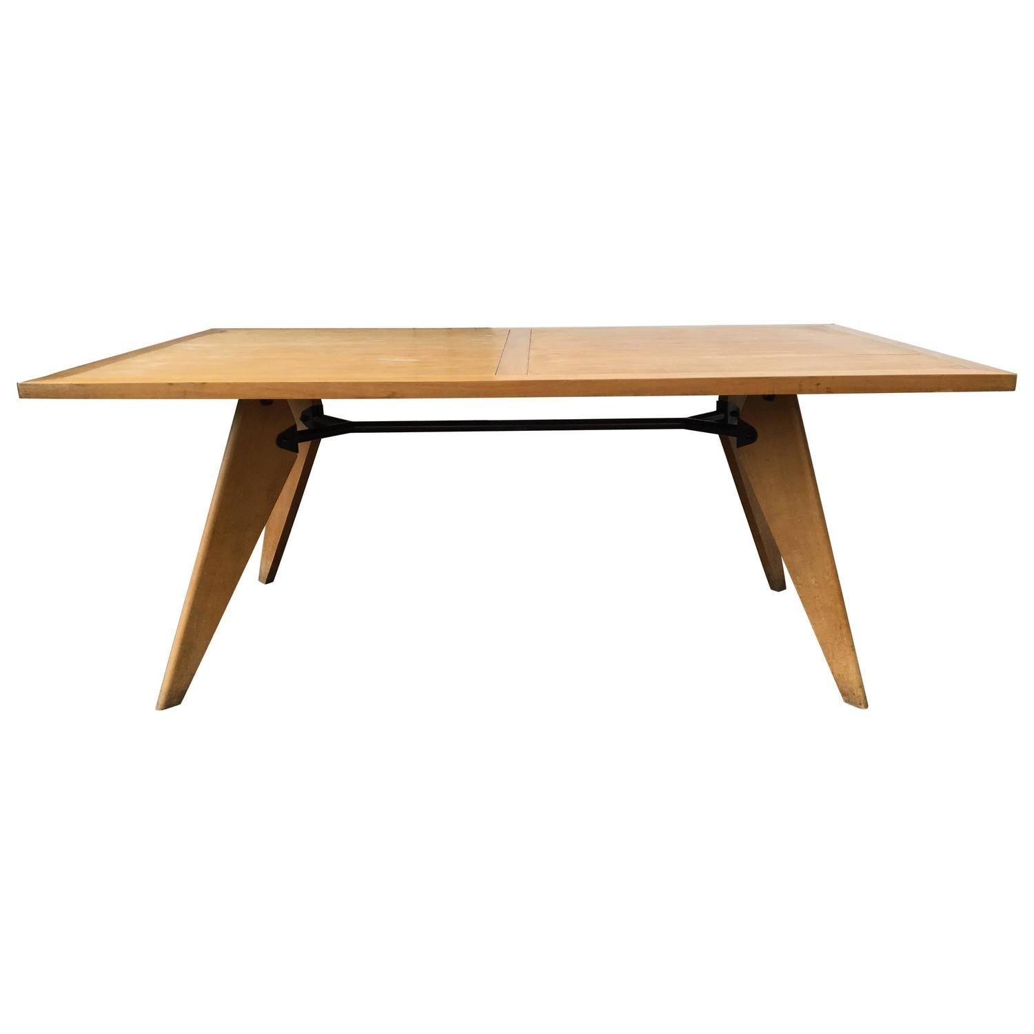 Jean prouve dining table france 1950s for sale at 1stdibs - Table basse jean prouve ...
