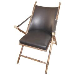 Vintage Leather Campaign Chair