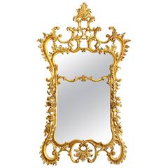 Florentine Gilt Louis XV Style Wall Mirror