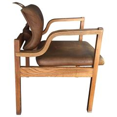 Mid-Century Oak Bentwood Side Chair