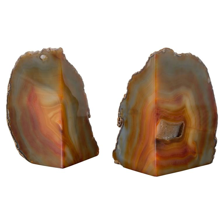 Pair of vintage geode bookends from brazil at 1stdibs - Geode bookends ...