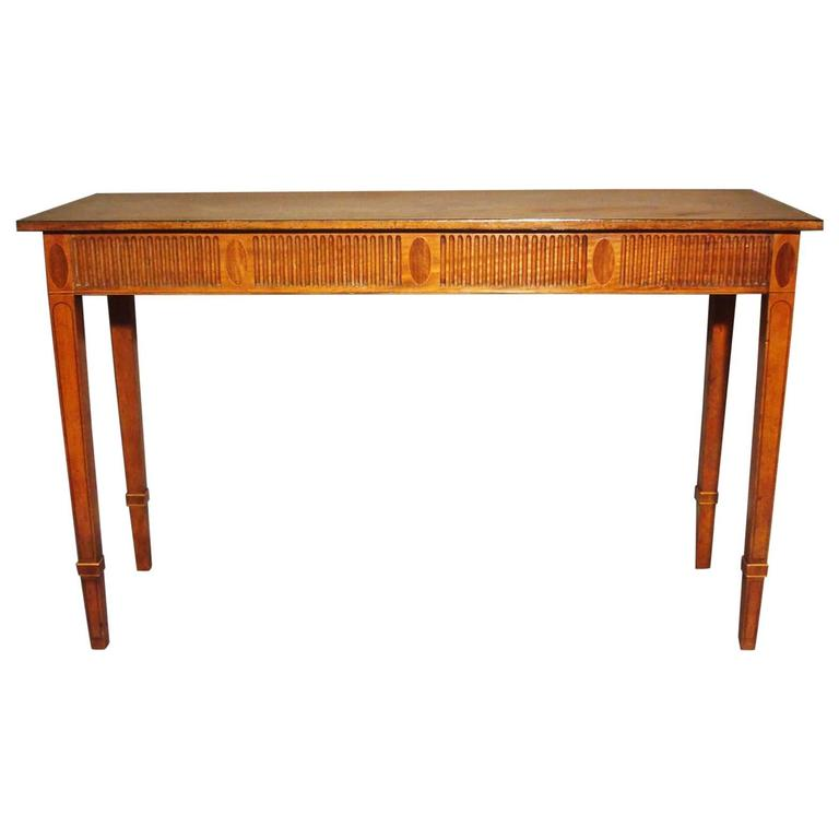 George III Mahogany Neoclassical Console Table or Side Table