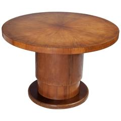 Pedestal Round Dining Table with Multiple Height Possible, Art Deco