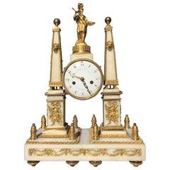 Marble Clock, Louis XVI Period by Charles Bertrand