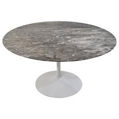 Knoll Grey Marble Saarinen Tulip Table