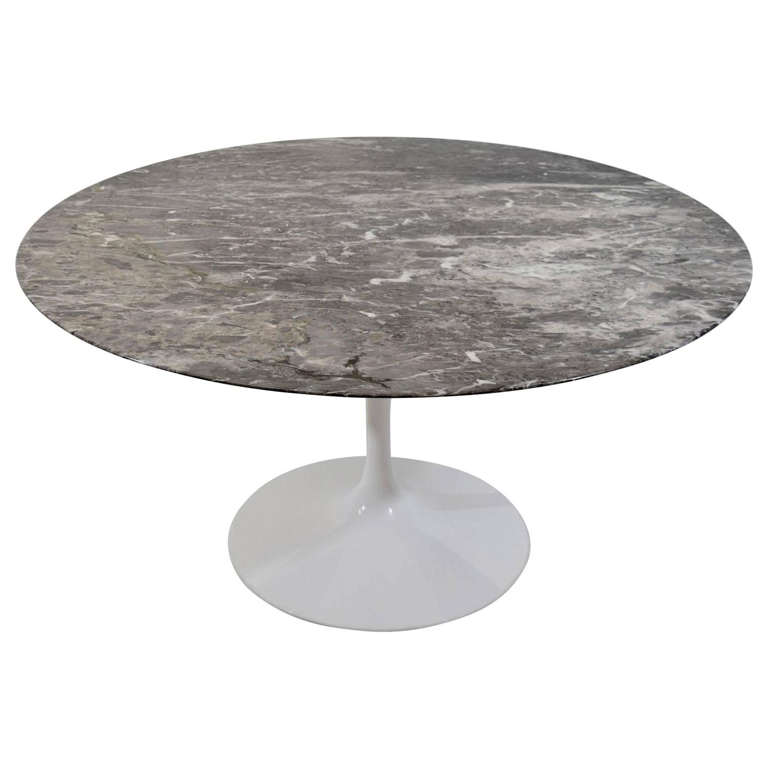Knoll Grey Marble Saarinen Tulip Table at 1stdibs
