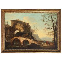 Italian Landscape Oil Painting 1790