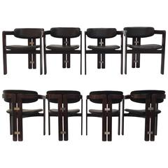 Set of Eight Pamplona Dining Chairs by Augusto Savini for Pozzi, Italy, 1965