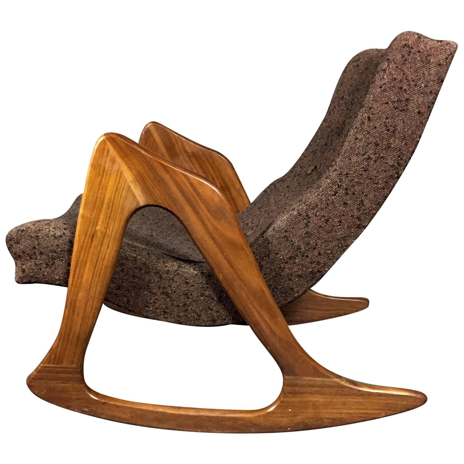 High Quality Iconic Adrian Pearsall 812 Cr Rocking Chair For Craft, USA, 1950s At 1stdibs