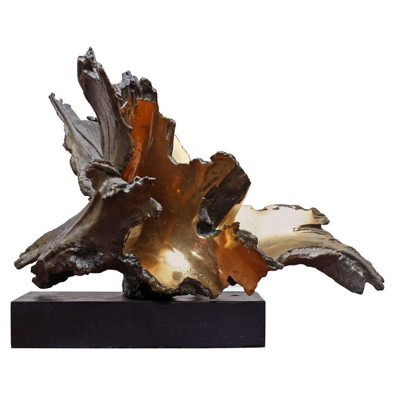 """Bronze Sculpture """"Furnace Flowers"""""""
