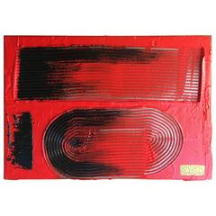 "Martha Sturdy, Contemporary Resin on Steel, ""Rake #242"""