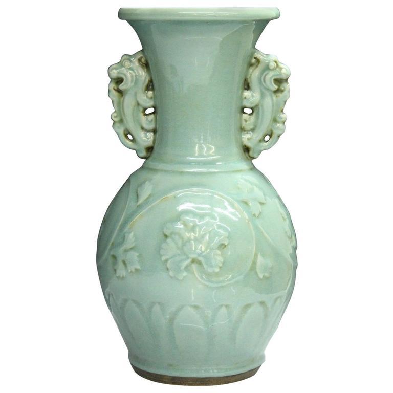 Beautiful Chinese Large Porcelain Celadon Quot Lotus Quot Vase At