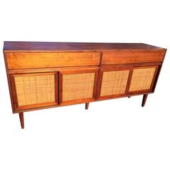 Danish Teak Credenza in the Manner of Hans Wegner and Ry Mobler