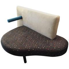 Saporiti Memphis Settee Large Chair, 1980s