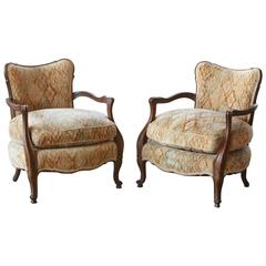 Pair of Early 20th Century French Wide Brissac Bergères