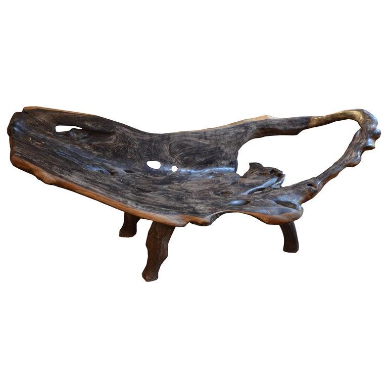 Andrianna Shamaris Organic Extra Large Teak Wood Chaise Or