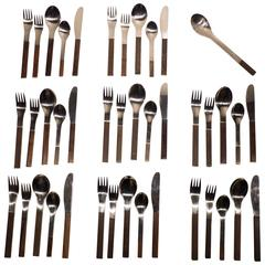 "Carl Auböck ""Duo"" Flatware Service for Eight"