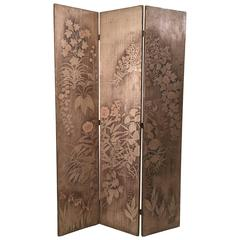 Fine Max Kuehne Double-Sided Silver Leaf Screen