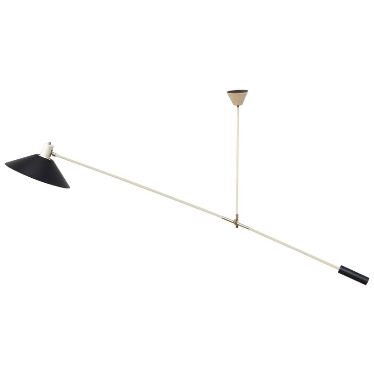 J. J. M. Hoogervorst for Anvia Counter Balance Ceiling Lamp, Netherlands
