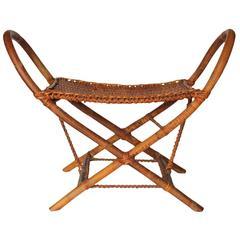 Stylish Midcentury Bamboo Bench