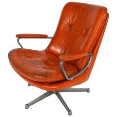 Strässle 'Gentilina' Swivel Lounge Chair by A. Vandenbeuck, Switzerland, 1960s