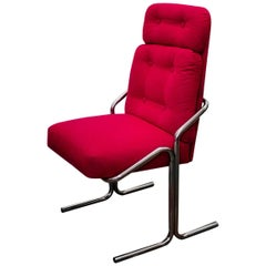 Douglas of California Chrome Tube Lounge Chair, 1970s