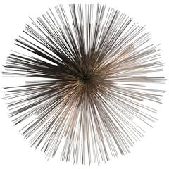 Signed Curtis Jere Pom Pom Metal Wall Sculpture