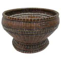 Antique Woven Basket Bowl