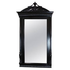Italian Antique Ebonized Wall Mirrore