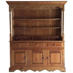 Antique Style Large Welsh Dresser Solid Pine Farmhouse Spice Drawers