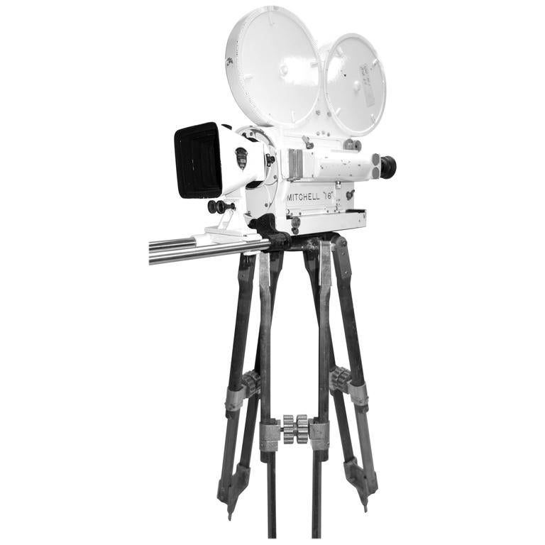 Mitchell Mid-Century Motion Picture Camera As Sculpture Ex Military Navy ON SALE