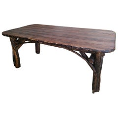 Monumental 20th Century Hickory Dinning Table