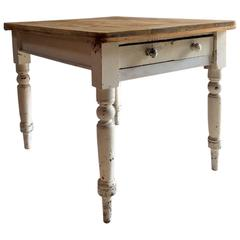 Painted Distressed Pine Dining Table Kitchen
