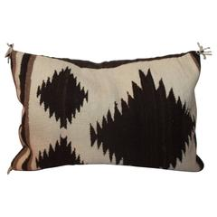 Navajo Indian Weaving Saddle Blanket Bolster Pillow