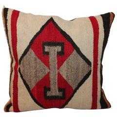 Vibrant Double T's Navajo Indian Weaving Pillow