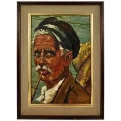 Italian Oil Painting-Neapolitan Fisherman