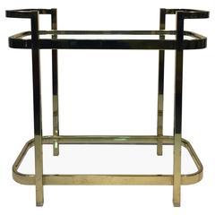 Exceptional Brass Bar Cart by Milo Baughman