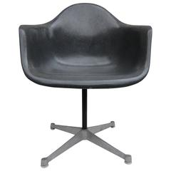Herman Miller Eames Elephant Grey Swivel Armchair